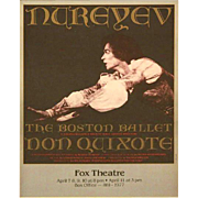 REDUCED Nureyev Boston Ballet  - Fox Theatre Framed Poster.