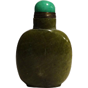REDUCED Vintage Green Stone Snuff Bottle