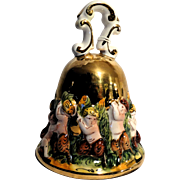 REDUCED Signed Capodimonte Porcelain Bell/Paperweight