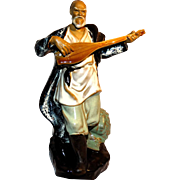 REDUCED Chinese Large Standing Musician Mudman Playing Mandolin