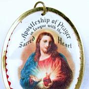Vintage Apostleship of Prayer Sacred Heart Medal – c. 1930s