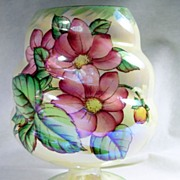 SALE Collectible Maling Lustreware Dahlia Pattern  Vase – c.1930