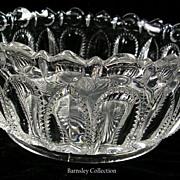 SALE Early American Pressed Window Pane Thumbprint Bowl