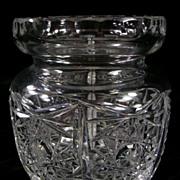 SALE Vintage Pressed Glass Jar
