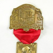 Dated and Signed, Vintage Fireman's Commemorative Medal