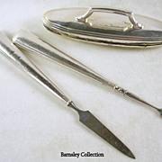 SALE Vintage Hallmarked German Sterling Silver Manicure Set