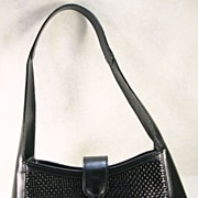 SALE Made In Italy Bally Black Woven Hand Bag/Purse
