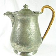 SALE English Hand Hammered Pewter Coffee Tea Pot