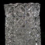 SALE Vintage Pressed Glass Vase