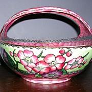 SALE English Maling Pink Lusterware Basket c.1930