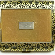 Art Deco Vintage Cigarette Case and Compact – Fabulous!