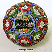 Victorian Mosaic Pin Brooch – c.1890