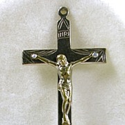 Signed Italy Vintage Sterling Silver Cross with Jesus Pendant – Unusual!