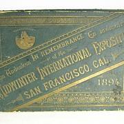 """San Francisco World's Fair Photo Book"" dated 1894"