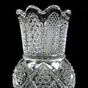 SALE Cut Glass Reversible Toothpick Holder or a Candle Holder
