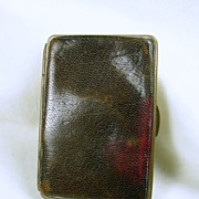 Vintage Leather Card or Stamp Holder