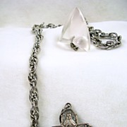 Vintage Religious Cross FOB and Chain – c. 1960
