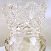 SALE Collectible Two-Tone Cut Glass Tooth Pick Holder