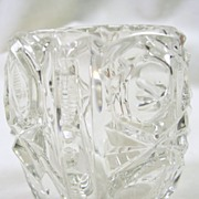 SALE Cut Glass Tooth Pick Holder