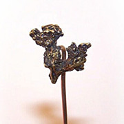 ANTIQUE VICTORIAN 14K Gold Stick Pin with Natural Gold Nugget Top!