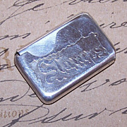 C.1900 Silverplate/Nickel Silver Folding STAMPS Holder!
