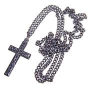 Gentlemen's VINTAGE Sterling Silver Cross & Chain!