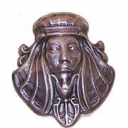 Vintage STERLING SILVER Pin/Brooch - Pharaoh Head/King Tut!