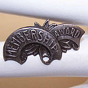 C.1900 Sterling Silver Membership Award Pin!