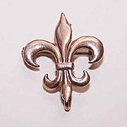 SOLD ANTIQUE EDWARDIAN Gold Filled Watch Pin - Fleur de Lis Design!