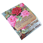 C.1900 FRENCH Cologne Paper Label - Eau de Roses