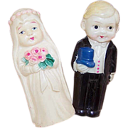 Art Decio EARLY CELLULOID Bridal Couple Figurines - Made in Japan!