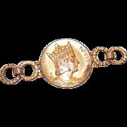 DESTASH!  C.1900 FRENCH Necklace Pendant Section - King Louis IX/Saint Louis of France!