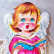 Adorable 1950s Christmas Ornament/Decoration - Choir Angel in Pink!