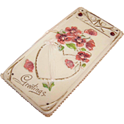 C.1900 ART NOUVEAU Celluloid & Cardstock Greeting Card!