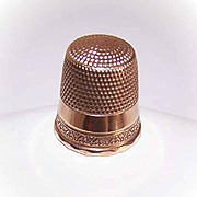 ANTIQUE EDWARDIAN 10K Gold Thimble - Size 10!