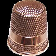 ANTIQUE EDWARDIAN 10K Gold Thimble - Size 10!