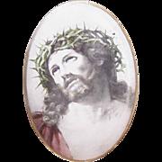 C.1900 Religious Paper Icon - Christ Crucified/Ecce Homo!