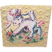 """2 Adorable C.1950 UNUSED """"Get Well"""" Cards!"""