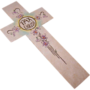 Vintage RELIGIOUS Hand Painted Bookmark - PAX CHRISTI