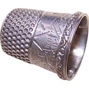 Vintage STERLING SILVER Thimble by Simons - Size 7!
