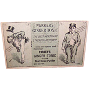 Parker's Ginger Tonic Trade Card!