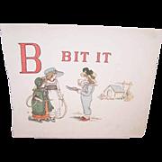 C.1890 KATE GREENAWAY Print - B is for Bit It!