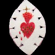 Vintage FRENCH Craft - Hand Made Agnus Dei Religious Sacramental or Devotional - Sacred Heart!