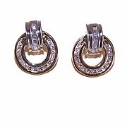 SHOWSTOPPER Estate 14K Gold & 1CT TW Diamond Earrings!