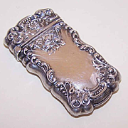 ANTIQUE VICTORIAN Sterling Silver Match Safe!