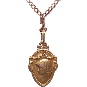 Vintage FRENCH GOLD FILLED Religious Medal/Pendant - Virgin Mary!