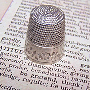 Vintage STERLING SILVER Thimble by Simons - Size 11!