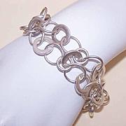 Funky Retro STERLING SILVER Link Bracelet!