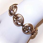 Vintage STERLING SILVER Vermeil Link Bracelet
