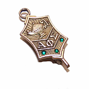 ALPHA PHI SIGMA National Criminal Justice Honor Society Key Pin/Brooch!